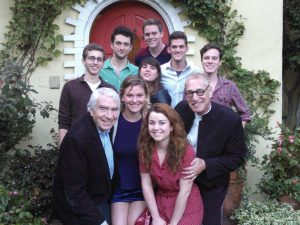 Trules with students at the home of Gordon Davidson, Godfather and Pioneer of Los Angeles Theater